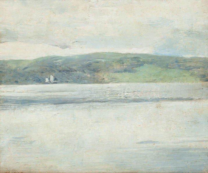 13: Emil Carlsen, (American, 1853-1932), Calm Seascape