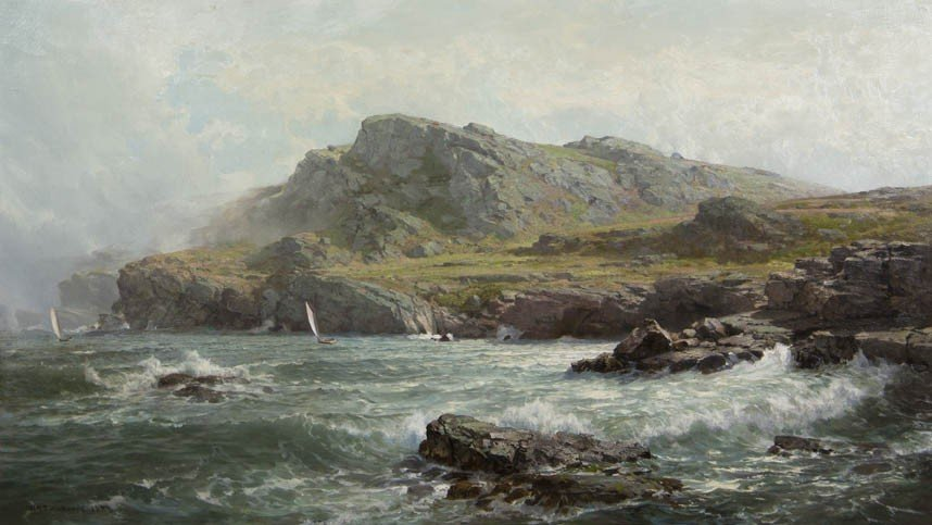 14: William Trost Richards, (American, 1833-1905), Rock