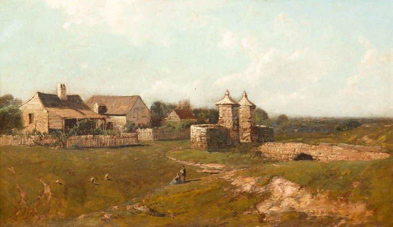 15: John Bunyan Bristol, (American, 1826-1909), Gate, S