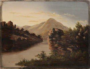 21: American School, (19th century), Mountain Lake