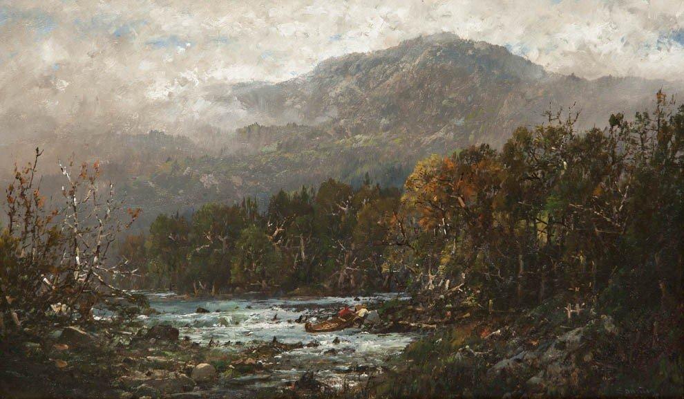 22: William Louis Sonntag, (American, 1822-1900), On th