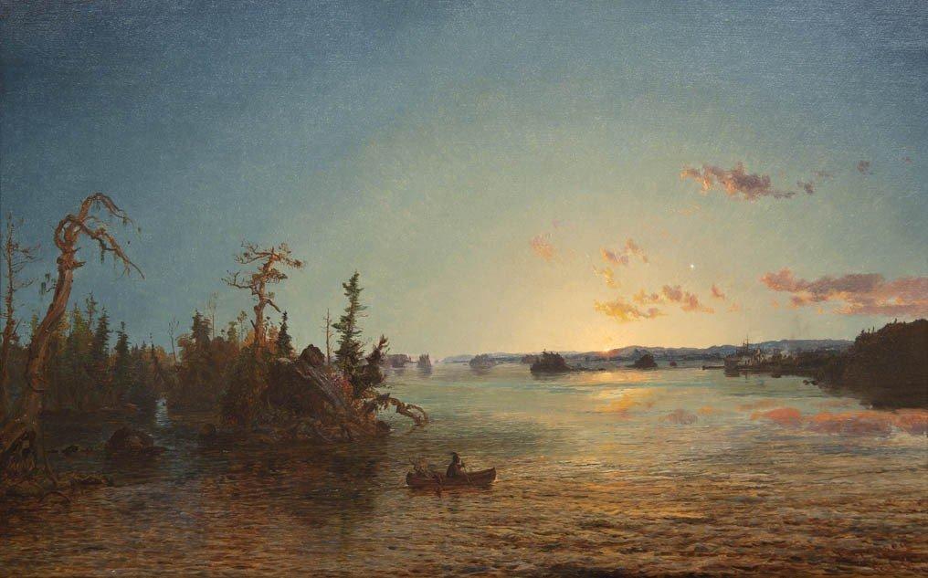 23: Jasper Francis Cropsey, (American, 1823-1900), Dawn