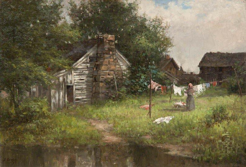24: John Semon, (American, 1852-1917), Hanging Out the