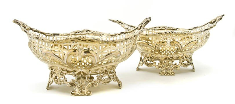 459: A Pair of English Gilt Silver Baskets, Williams Co