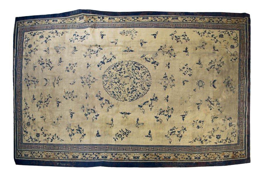 906: A Chinese Wool Carpet, 15 feet 4 inches x 11 feet