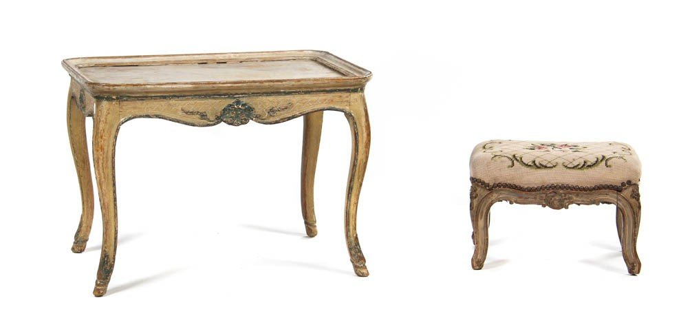 925: A Louis XV Style Painted Occasional Table, Height
