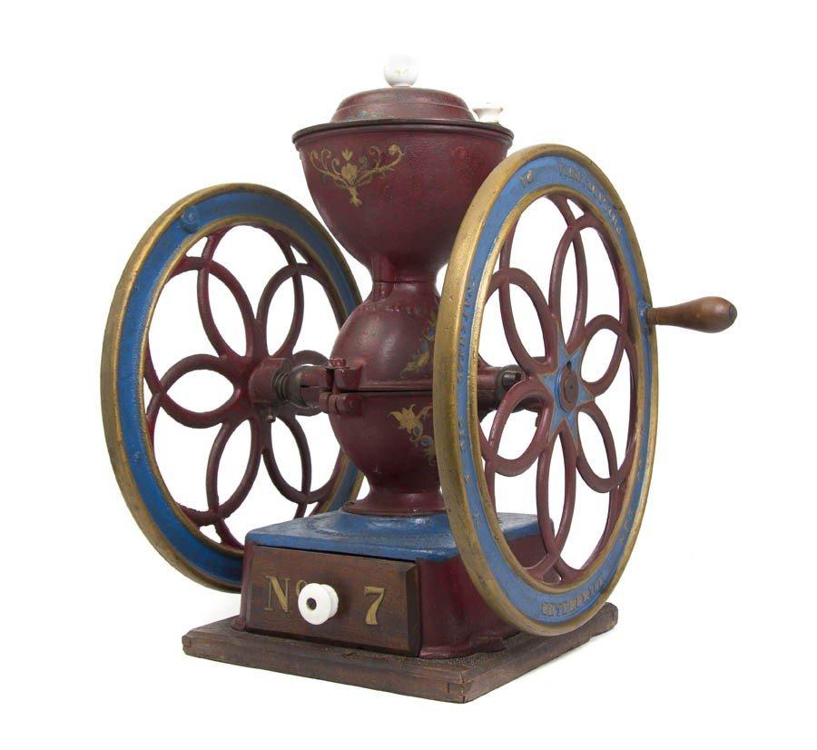 1182: An Enterprise Cast Iron Coffee Mill, Height overa