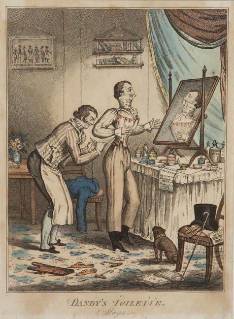 1460: Artist Unknown, , Dandy's Toilette (a pair) - 2