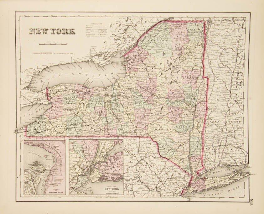 3: COLTON, G.W. Colton's General Atlas. NY, 1857. Compl