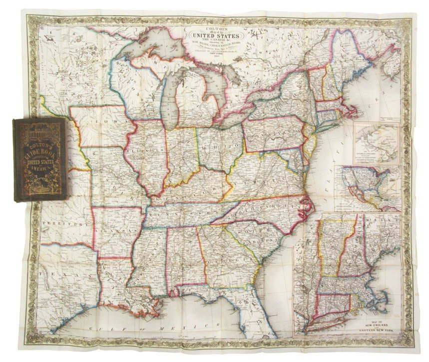 4: COLTON, J. H. Colton's Traveler and Tourist's Guide-