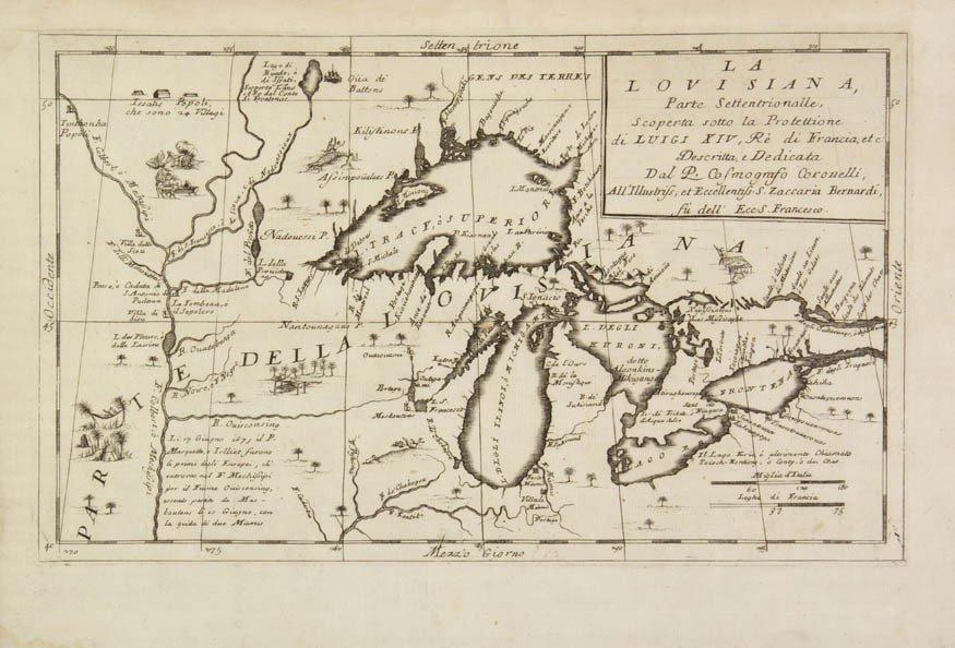 5: CORONELLI, V. M. La Louisiana. Venice, c. 1695. Engr