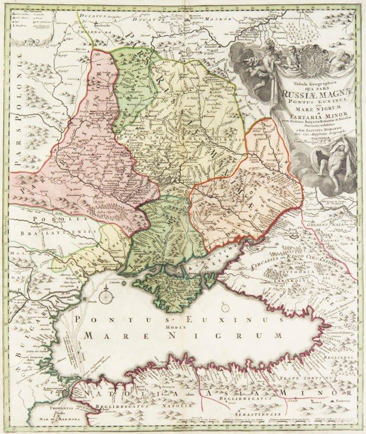 10: HOMANN, (JOHANN BAPTIST). Tabula Geographica qua pa