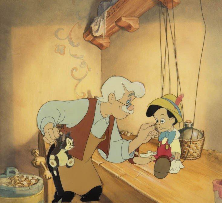 393: (WALT DISNEY) PINOCCHIO. Gepetto creating Pinocchi