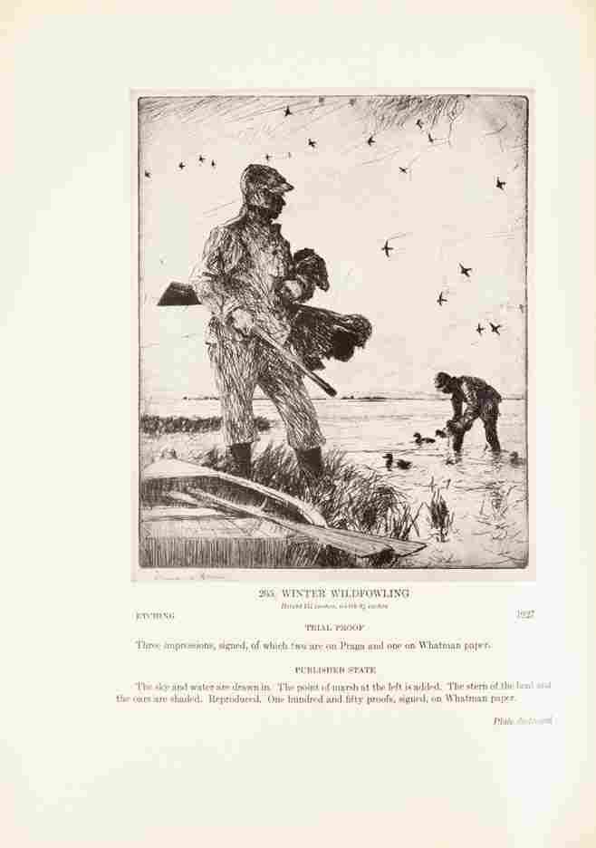 448: BENSON, FRANK W. Etchings and Drypoints. Boston an