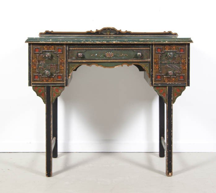 2: A Lacquered and Parcel Gilt Dressing Table, Height 3