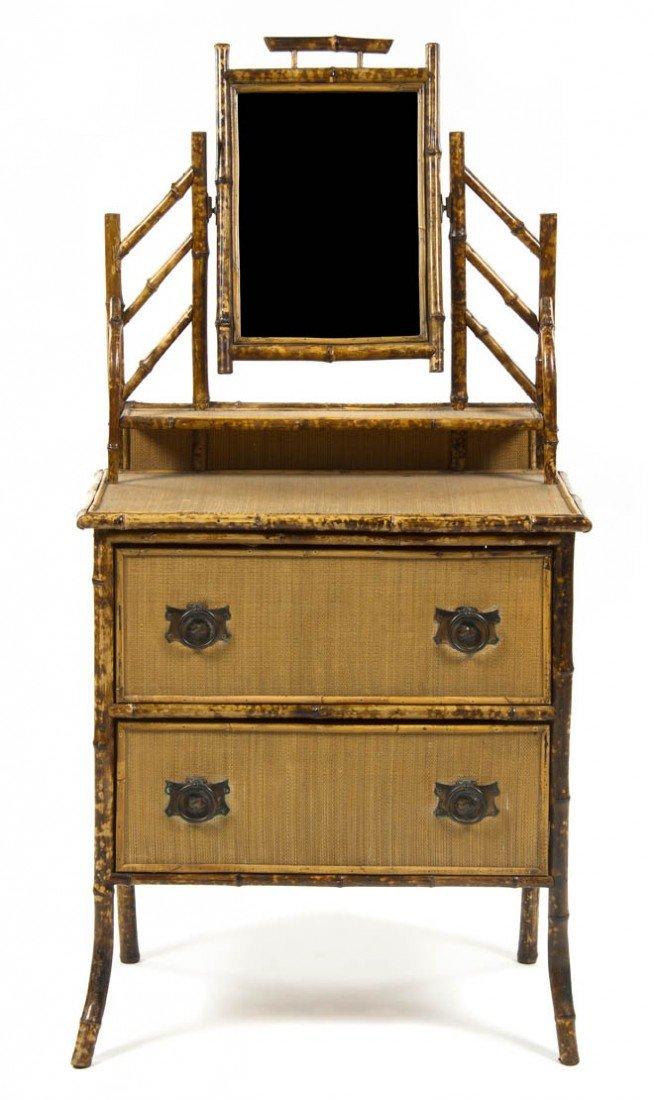 3: A Victorian Style Bamboo Dresser, Height 60 x width