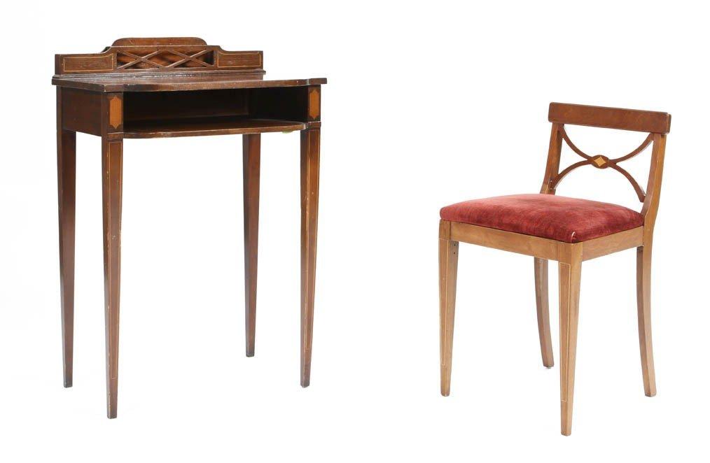 5: A Georgian Style Mahogany Writing Table, Height of f