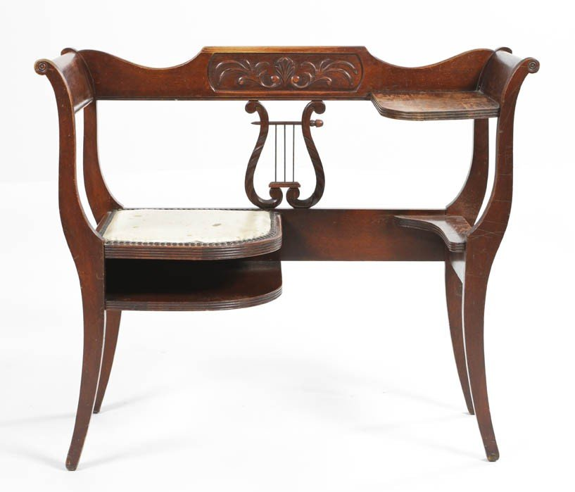 6: An American Telephone Table, Width 34 inches.