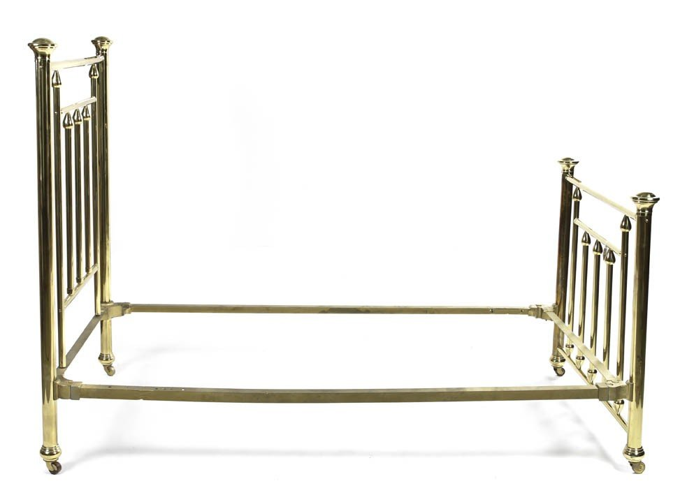 8: A Pair of Brass Spindle Beds, Height of headboards 5