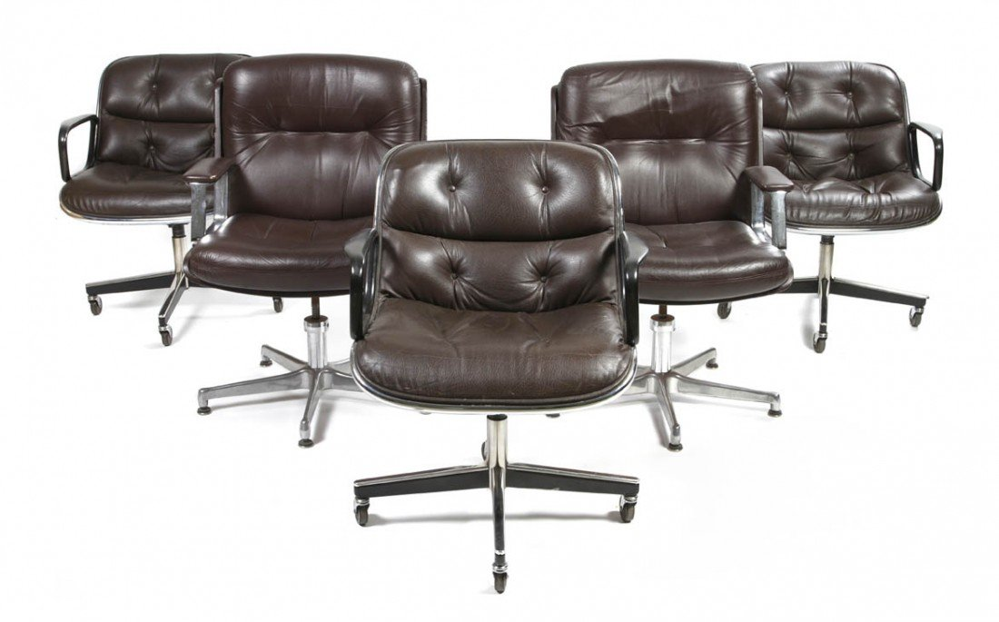 11: A Set of Three Knoll Office Chairs, Height of set 3