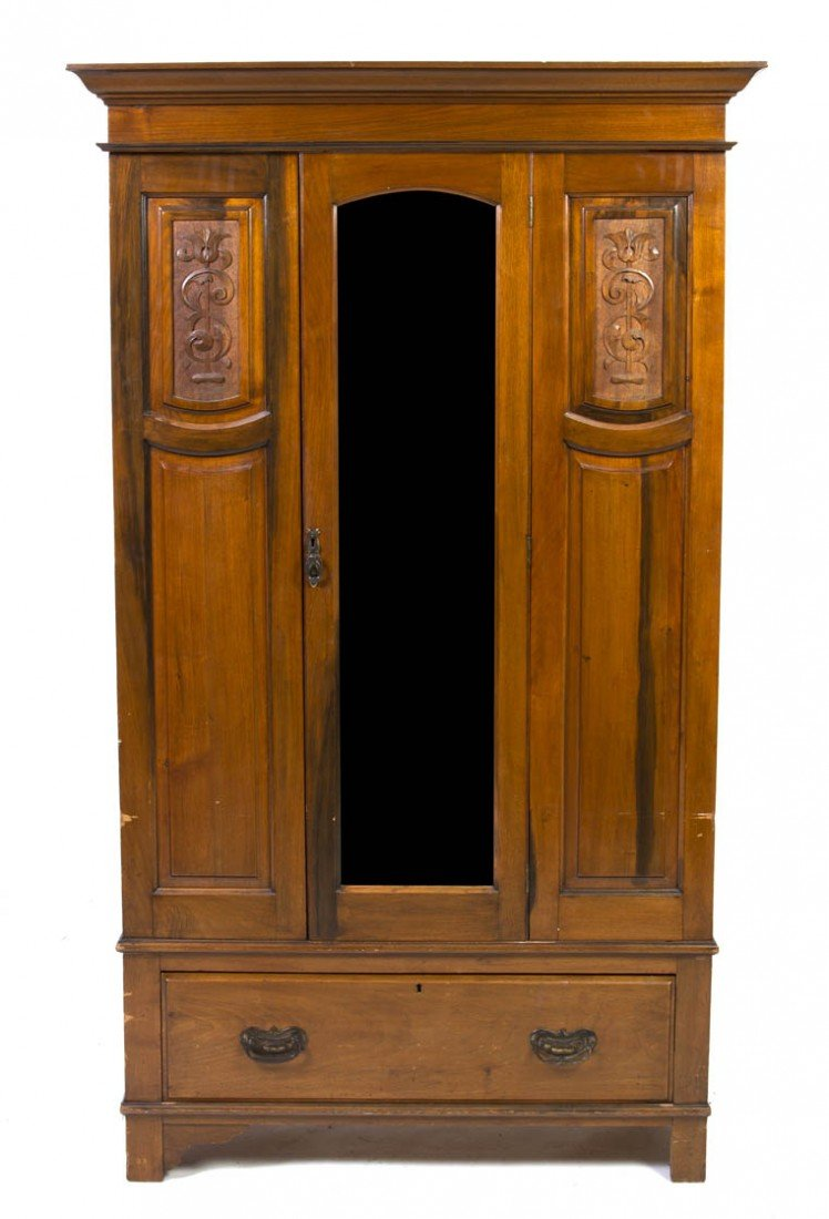 16: An American Arts and Crafts Armoire, Height 77 1/4