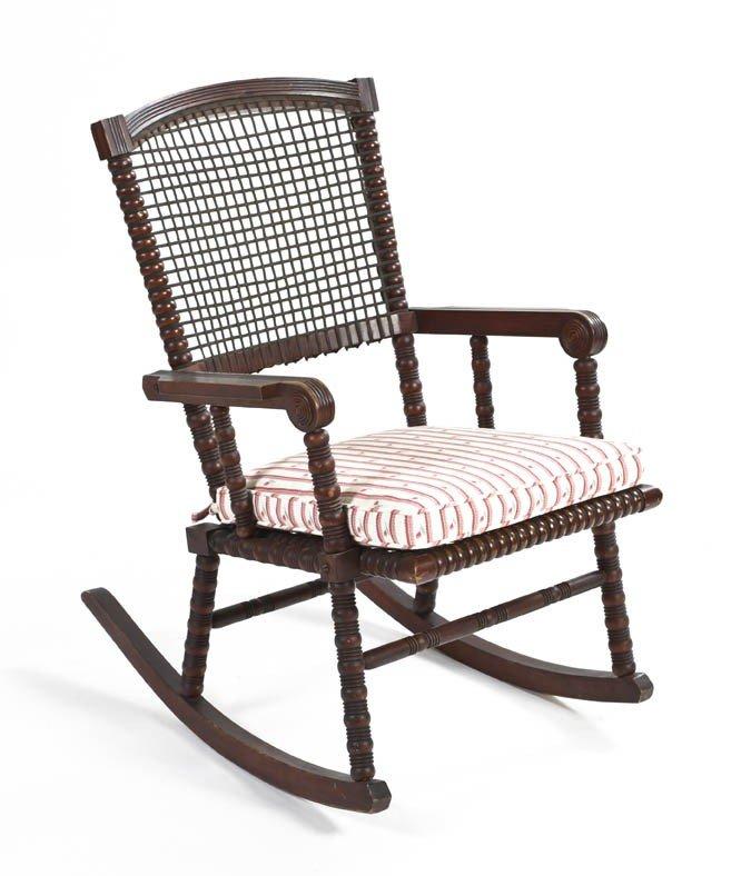 17: An American Turned Wood Open Armchair, George Hunzi