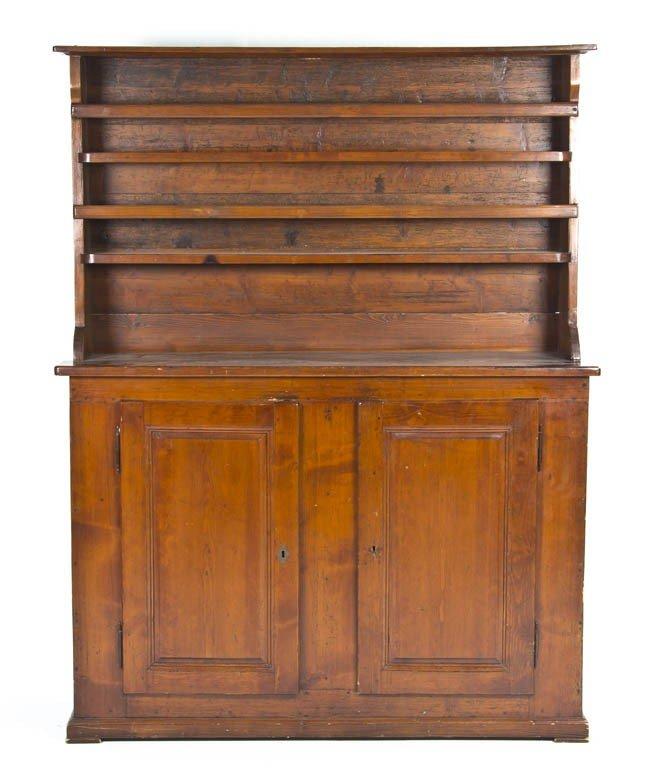 23: A Pine Welsh Cupboard, Height 74 1/2 x width 57 x d