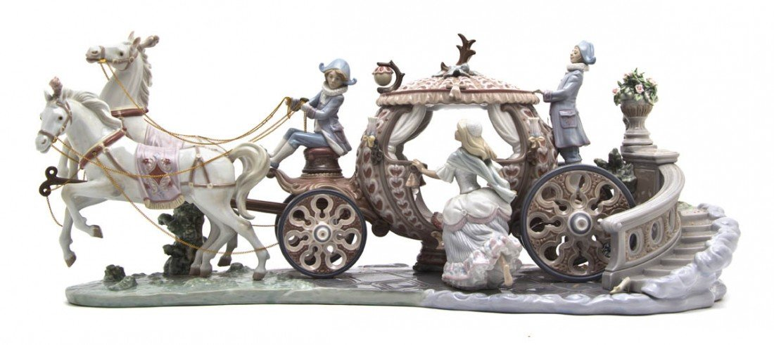 469: A Lladro Porcelain Figural Group, Length 25 inches