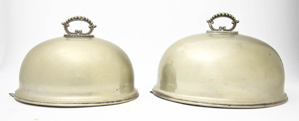 523: A Pair of English Silverplate Cloches, Thomas Wilk