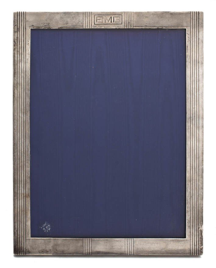 525: An American Sterling Silver Frame, Height 13 1/2 x