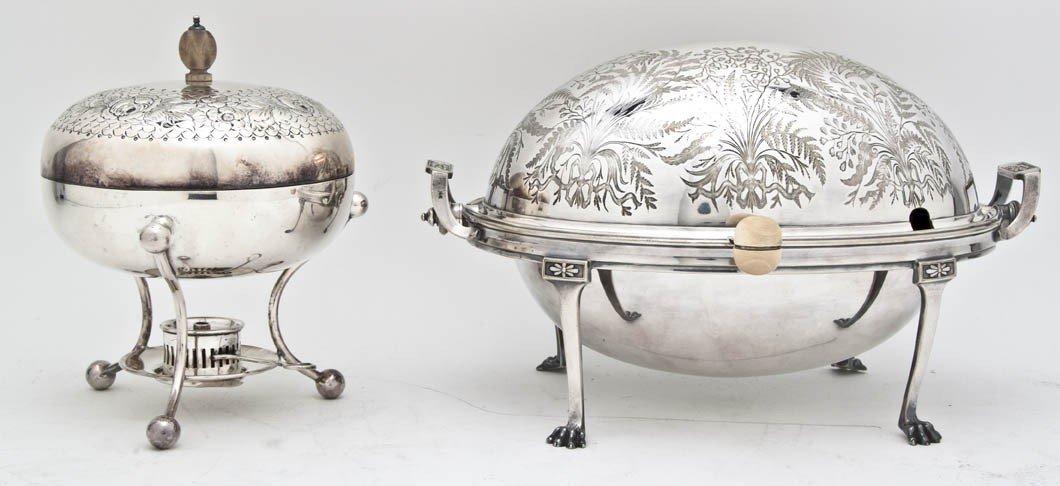 534: An English Silverplate Bacon Warmer, James Dixon &