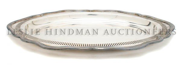 538: An American Silverplate Tray, E.G. Webster and Son