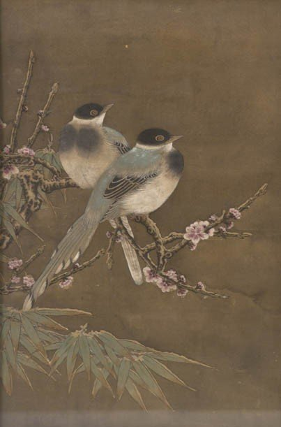 795: A Chinese Painting of Two Birds, Height of image 1