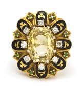62 A 14 Karat Yellow Gold Yellow Sapphire Diamond G