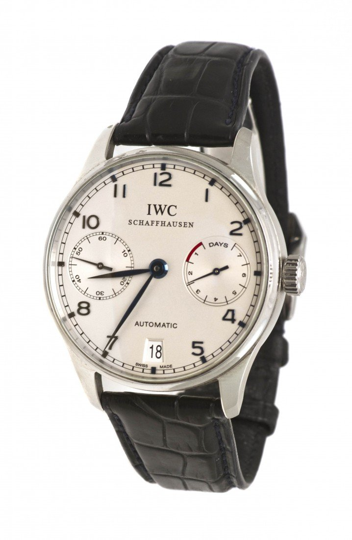 1166: A Stainless Steel Portuguese 7 Day Power Reserve