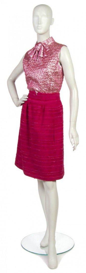 5: An Arnold Scaasi Pink Wool Skirt Suit,