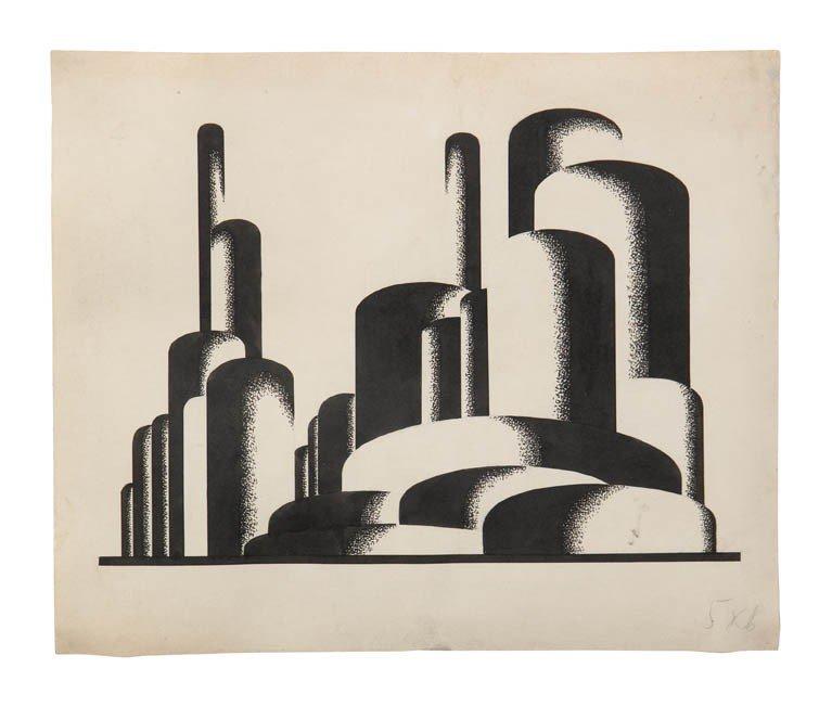 5: Yakov Chernikov, (Ukrainian, 1889-1951), Composition