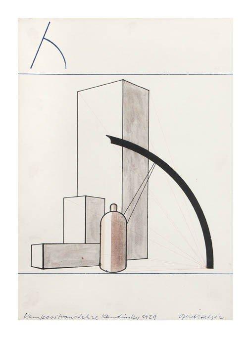 6: Gerd Balzer, (German, 1909-1985), Analytic Drawing,