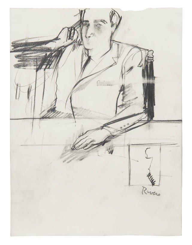 18: Larry Rivers, (American, 1923-2002), Portrait of a