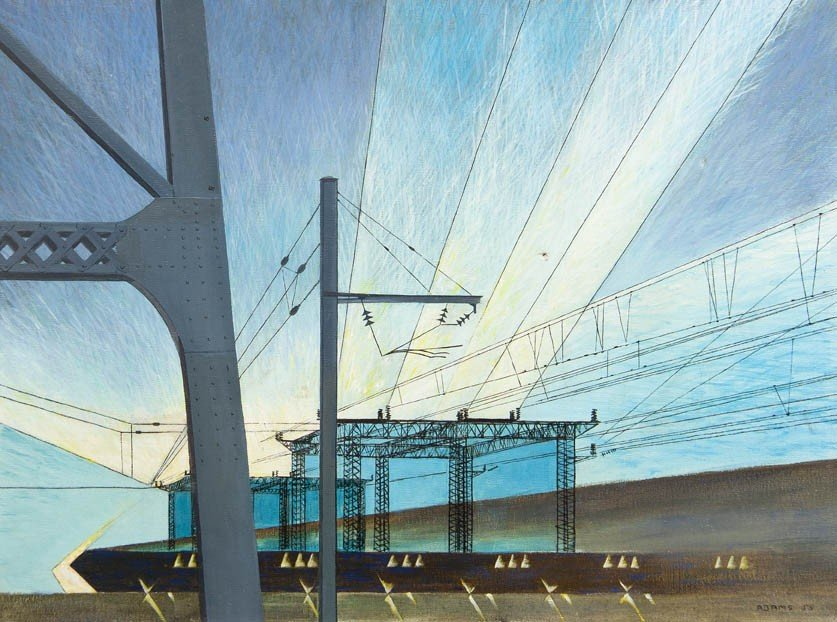 22: Adams, (20th century), Power Lines, 1955
