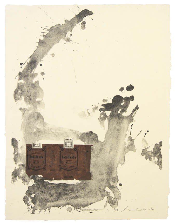1001: Robert Motherwell, (American, 1915-1991), Tobacco