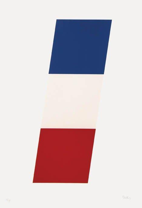 1003: Ellsworth Kelly, (American, b. 1923), Blue/White/