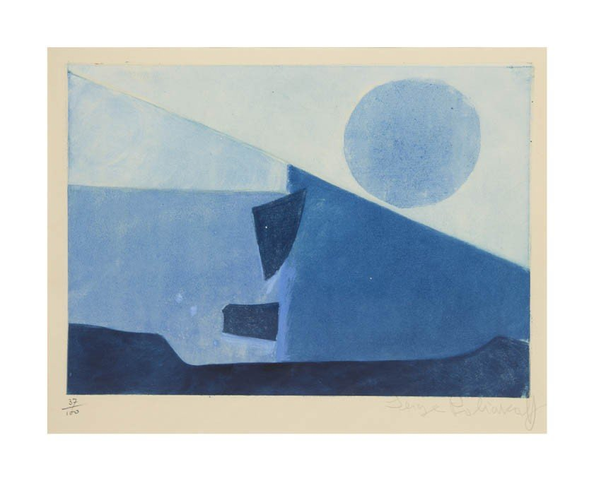 1014: Serge Poliakoff, (Russian, 1906-1969), Compositio
