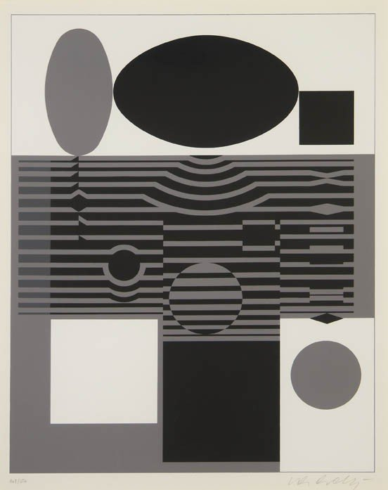 1020: Victor Vasarely, (French/Hungarian, 1906-1997), C