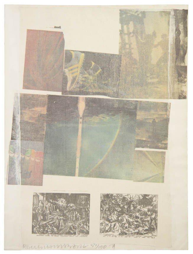 1022: Robert Rauschenberg, (American, 1925-2008), Peopl