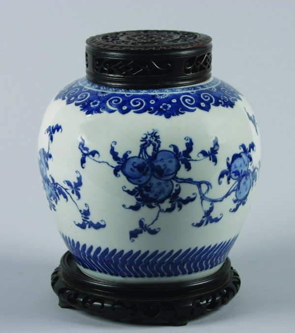 4: A Chinese Blue and White Porcelain Jar, Height witho