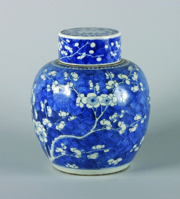 5: A Chinese Blue and White 'Hawthorne Pattern' Porcela