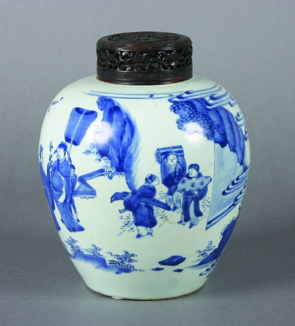 12: A Chinese Blue and White Porcelain Ginger Jar, Heig