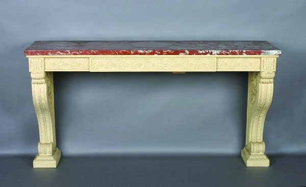 24: A George III Style White-Painted Pine Serving Table