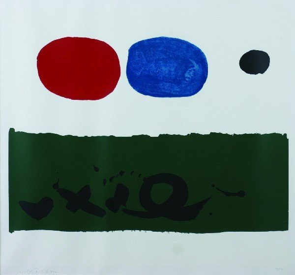 1017: Adolph Gottlieb, (American, 1903-1974), Green For